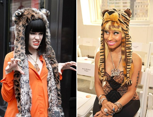 MTV's Picks on The Most Outrageous, Fun, Quirky and Crrrazy Fashion Moments of 2011 so Far - Jessie J Or Nicki Minaj: Who Wore An Animal Hood Best?